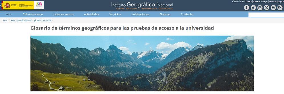 Glosario de Términos Geográficos