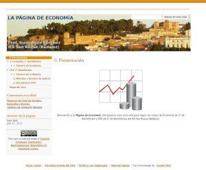 La página de economía